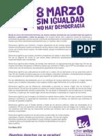 Manifiesto 8marzo2013 Euskadi