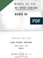 Manual Usuario Santana Serie III