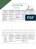 Progr. Semana Leitura 2009 - BE nº4 Loulé