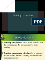 training evaluation.ppt