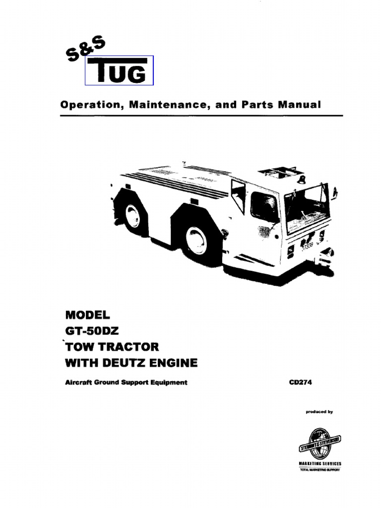 Gt-50dz Tow Tractor With Deutz Engine(Manuale Officina ...
