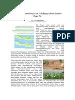 Pentingnya Pemaduserasian Pola Pengelolaan Sumber Daya Air