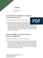 Systemy Business Intelligence w zarządzaniu procesami biznesowymi