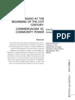 Community Radio at the Begining of 21st Century