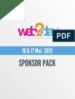 Web2day 2013 - Sponsor Pack