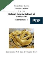 Copertă referat Istoria Culturii și civilizației