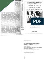 Crítica de la impaciencia revolucionaria. de Wolfgang Harich. pdf