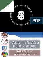 HADIS TENTANG KEBERSIHAN
