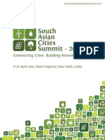 Brochure South Asian Cities Summit 2013