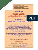 Timor Leste-política-território-cultura