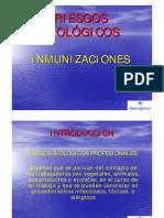 RIESGOS BIOLOGICOS INMUNIZACIONES