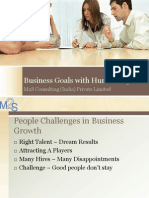 Business Goals With Human Capital