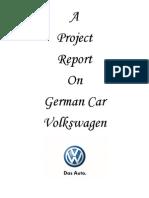 Project on Volkswagen DMK
