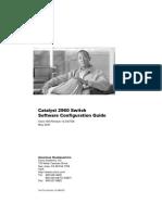 2960SCG Cisco catalyst 2960 Configuration Guide