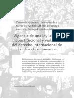 Informe DDHH 2012. DESC  -Artículo sobre Trabajo Domestico