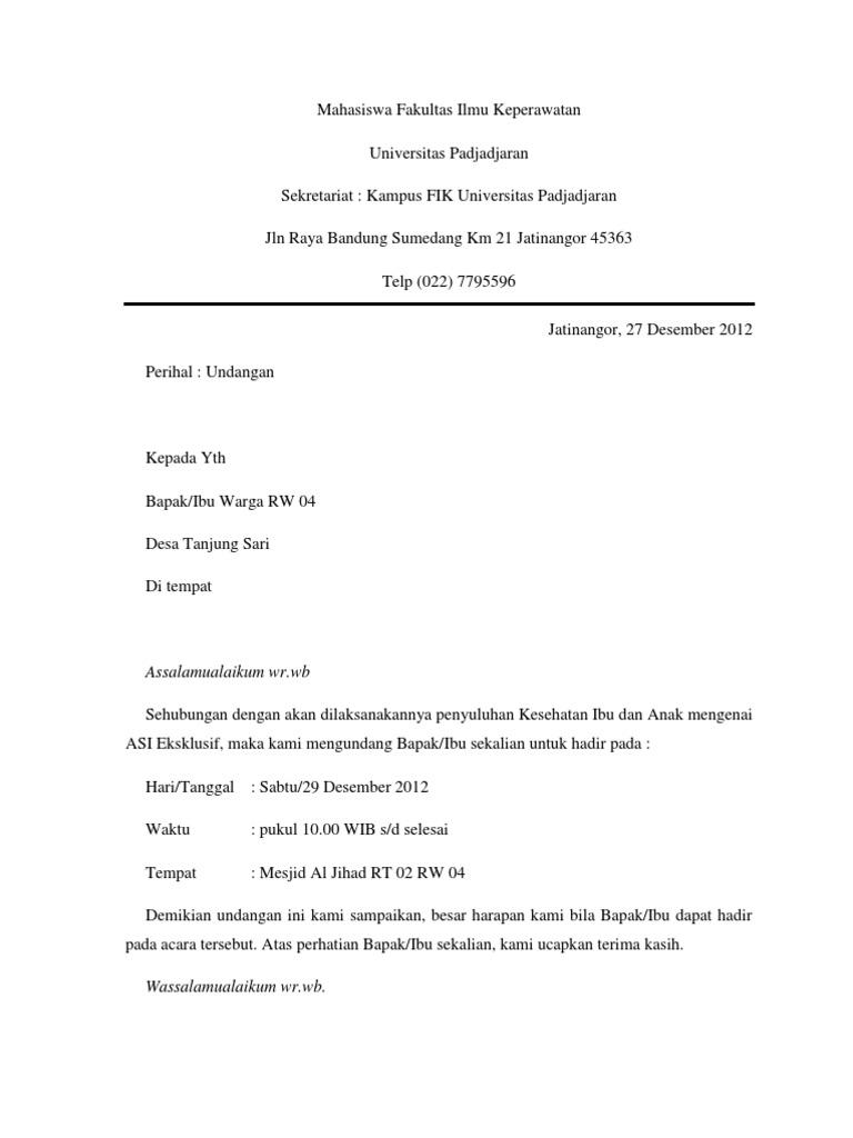 Surat Undangan Penyuluhan Kia