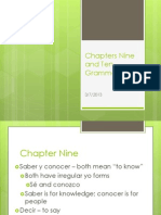 Chapters Nine and Ten Grammar Notes