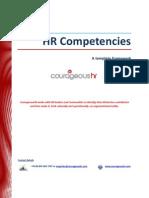 HR Competencies Summary Handout (CourageousHR)