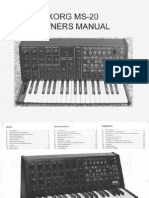 Korg MS20 Owners Manual
