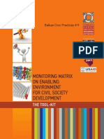 Monitoring Matrix for Enabling Environment for Civil Society Development –  The Tool-Kit