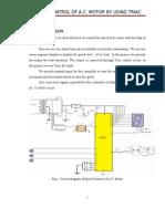 Speed Control of Ac Motor Using Triac