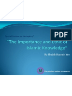 The Importance and Ethic of Islamic Knowledge