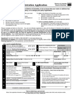 D.C. voter registration form