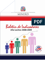 Educacion dominicana_boletin Indicadores 2008-2009