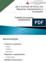 Estatísticas de acidentes de trabalho