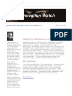 Innovation Watch Newsletter 12.05 - March 9, 2013