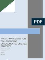 Guide for College Bound Undocumented Georgia Studentsiv