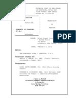 2013 02 04 Transcript of Hearing, CDA v. Township of Cranford