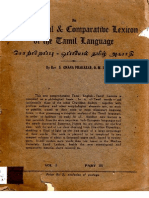 Etymological & Comparative Lexicon of the Tamil Language
