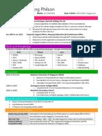 Philson Nah - 1 Page Resume