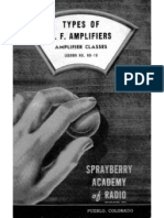 Lesson ND-16, Types of A.F. Amplifiers, Amplifier Classes