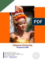 Prospectus universitas udayana