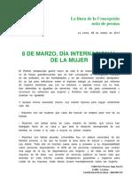 Manifiesto Andalucista 8 de marzo,  Día Internacional de la Mujer