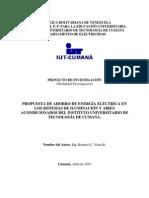 Proyecto de Ahorro de Energía Eléctrica en el IUT Cumaná