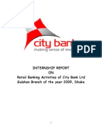 Retail Banking Activities of CBL..Internship Report