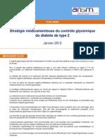 Diabete Type2 Objectif Glycem Messages Cles