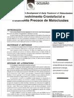 Desenvolvimento Craniofacial e Tratamento Precoce de Maloclusões