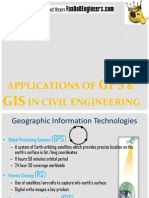 Applications of Gps and Gis in Civil Engineering