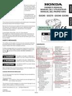 Honda Gs390 Owners Manual (Powerwasher)