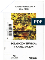 Humberto Maturana Sima Nisis Formacion Humana y Capacitacion