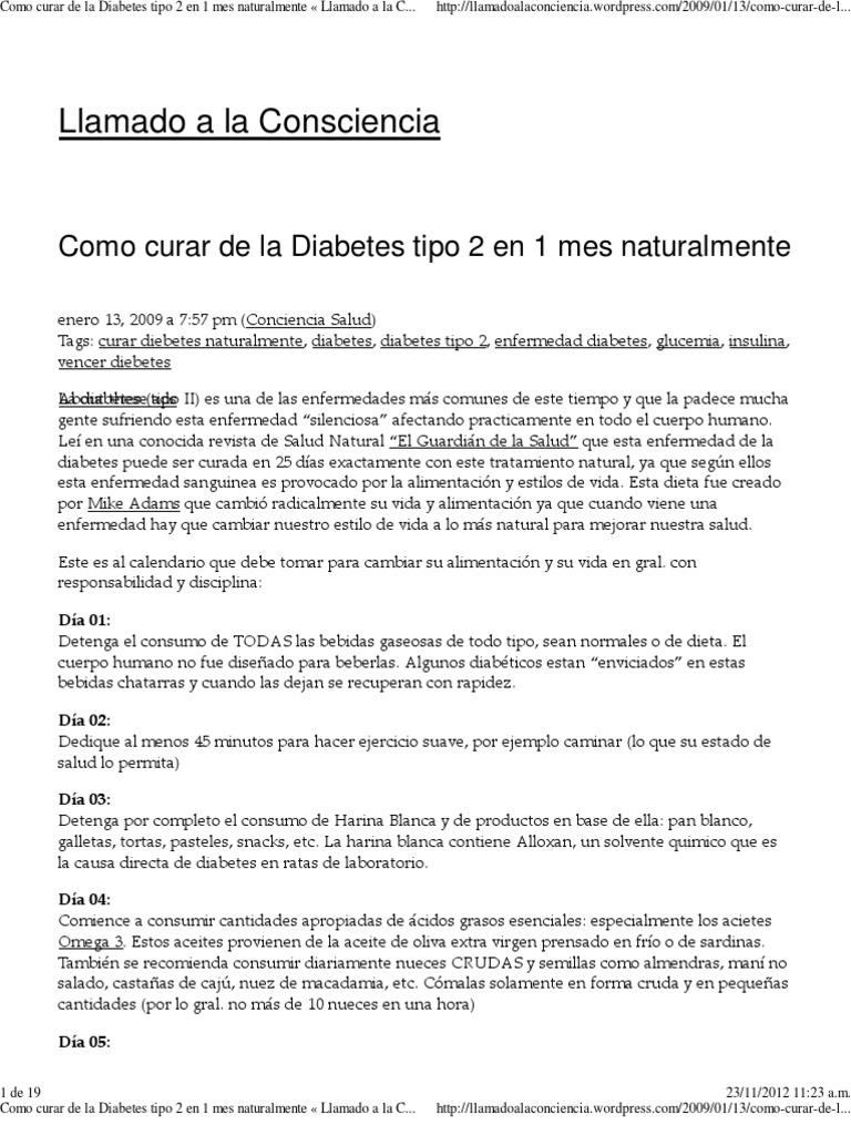 dieta rigorosa para diabeticos