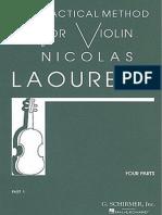 Nicolas Laoureux - Practical Method for Violin, Part 1