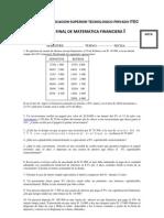 Ejercicios Propuestos Matematica Financiera
