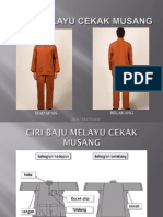 Teknik Mengambil Ukuran Baju Melayu Cekak Musang
