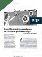 BSC_Usar el Balanced scorecard como un sistema de gestión estratégica