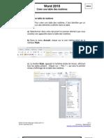 Créer une table des matièresWord2010